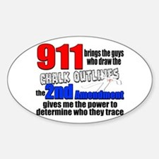 911 Chalk Outlines Bumper Stickers