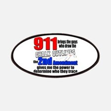911 Chalk Outlines Patches