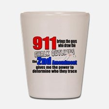 911 Chalk Outlines Shot Glass