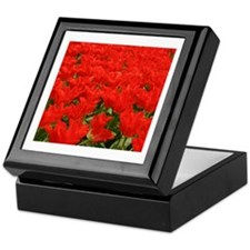 Bright red tulips Keepsake Box