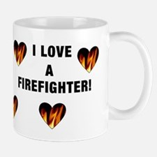 I Love A Firefighter Mug