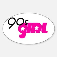90s Girl Oval Decal