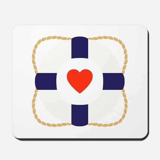 Heart Life Preserver Mousepad