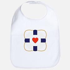 Heart Life Preserver Bib