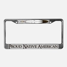 """Proud Native American""License Plate Fra"