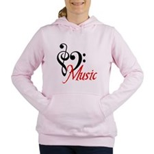 2-music.PNG Women's Hooded Sweatshirt
