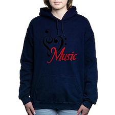 2-music.PNG Women's Hooded Sweatshirt