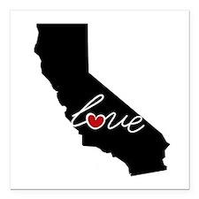 "California Love Square Car Magnet 3"" x 3"""