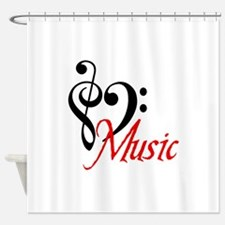 2-music.PNG Shower Curtain
