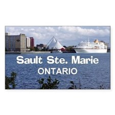 Sault Ste. Marie Waterfront Sticker (Rect.)