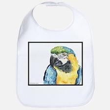 Tango the silly spokesbird macaw Bib