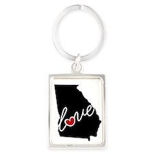 Georgia Love Portrait Keychain