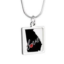 Georgia Love Silver Square Necklace