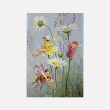 MOON DAISY FAIRIES Rectangle Magnet