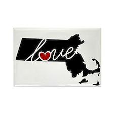 Massachusetts Love Rectangle Magnet (100 pack)