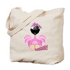 Goofkins Pink Flamingo Pirate Tote Bag