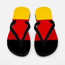 Cute German soccer Flip Flops