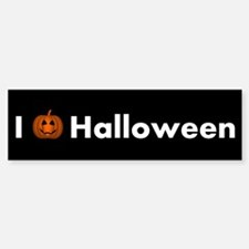 I Love Halloween With Happy Pumpkin Bumper Bumper Bumper Sticker