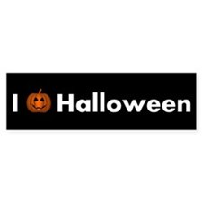 I Love Halloween With Happy Pumpkin Bumper Bumper Sticker