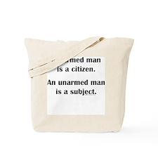 Armed Man Tote Bag
