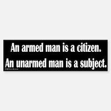 Armed Man Bumper Bumper Bumper Sticker