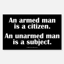 Armed Man Rectangle Decal