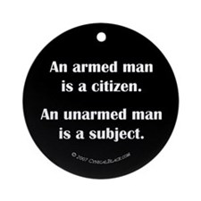 Armed Man Ornament (Round)