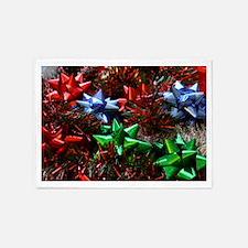 Christmas Bows 5'x7'Area Rug