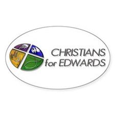Christians for Edwards Oval Decal