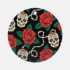 Skulls and Roses Ornament (Round)