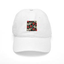 Skulls and Roses Baseball Baseball Cap