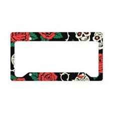 Skulls and Roses License Plate Holder