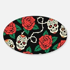 Skulls and Roses Decal