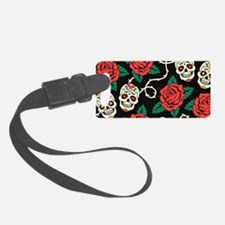 Skulls and Roses Luggage Tag