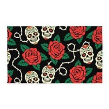 Skulls and Roses 3'x5' Area Rug