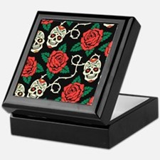 Skulls and Roses Keepsake Box