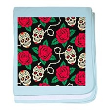 Skulls and Roses baby blanket