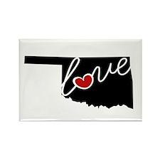 Oklahoma Love Rectangle Magnet
