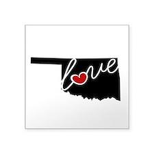 "Oklahoma Love Square Sticker 3"" x 3"""