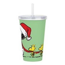 Snoopy Woodstock Acrylic Double-Wall Tumbler