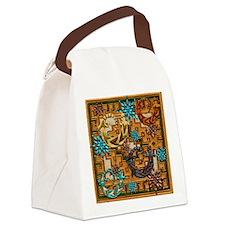 Harvest Moons Desert Geckos Canvas Lunch Bag