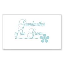 Grandmother of Groom Rectangle Decal