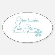 Grandmother of Groom Oval Decal