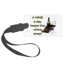 A Wine a Day Luggage Tag
