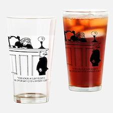 Attorney Cartoon 5496 Drinking Glass
