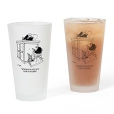 Crime Cartoon 5495 Drinking Glass