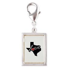 Texas Love Silver Portrait Charm