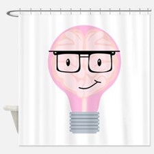 Brainy Bulb And Glasses Shower Curtain