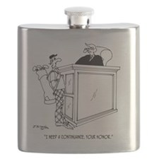 Golf Cartoon 5491 Flask