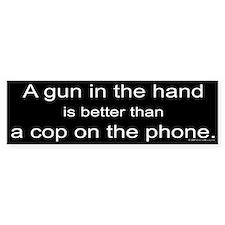 Gun in Hand Bumper Bumper Sticker
